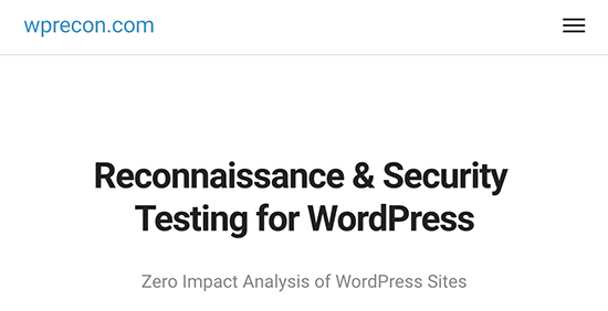 wprecon - معرفی 14 اسکنر امنیتی وردپرس برای شناسایی بدافزار و هکرها - بررسی آنلاین امنیت سایت