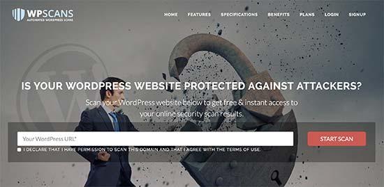 wpscans - معرفی 14 اسکنر امنیتی وردپرس برای شناسایی بدافزار و هکرها - بررسی آنلاین امنیت سایت