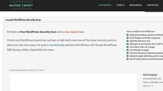 wpsecurityscan - معرفی 14 اسکنر امنیتی وردپرس برای شناسایی بدافزار و هکرها - بررسی آنلاین امنیت سایت