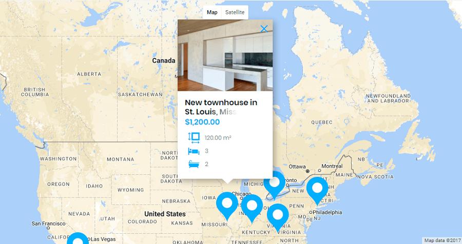 bellaina google map - ساخت سایت تبلیغاتی با وردپرس و سایت ساز در 10 مرحله  | سایت آگهی با وردپرس