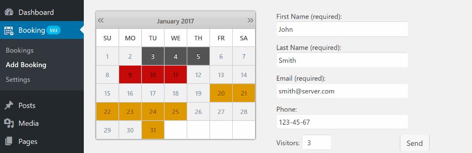 Booking Calendar   WordPress.org  - بهترین افزونه های تقویم وردپرس در سال 2018
