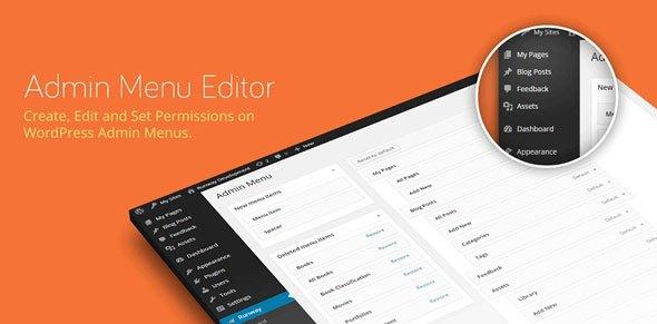 Admin Menu Editor Pro WordPress Plugin Free - بهترین افزونه های مگامنو برای وردپرس در 2018