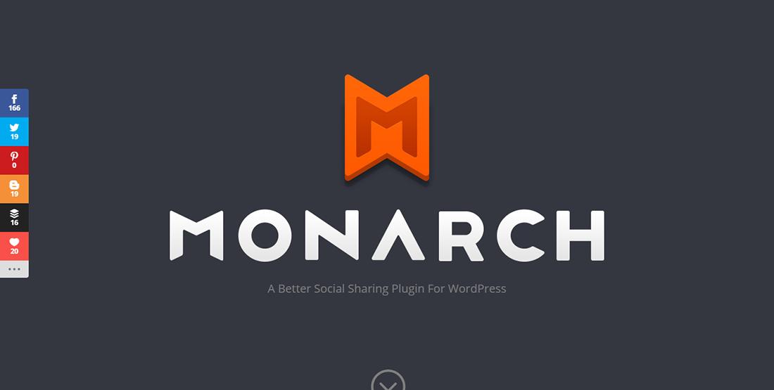 Monarch - بهترین افزونه های اشتراک گذاری در شبکه های اجتماعی وردپرس