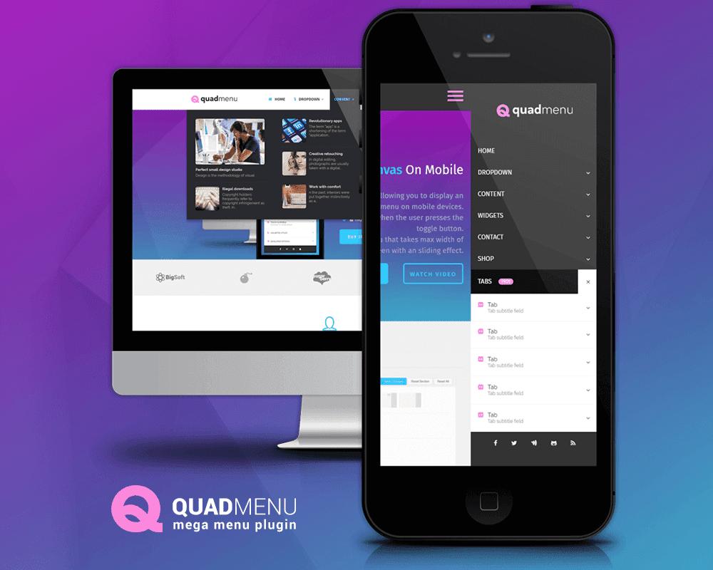 QuadMenu megamenu plugin - بهترین افزونه های مگامنو برای وردپرس در 2018