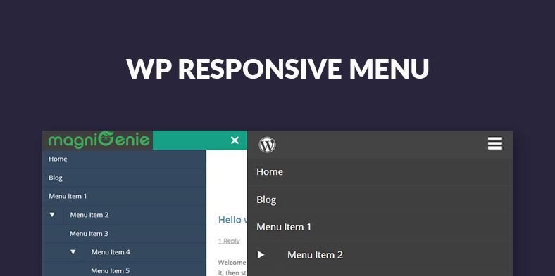 WP Responsive Menu - بهترین افزونه های مگامنو برای وردپرس در 2018