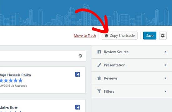 copyshortcode - نحوه نمایش نظرات گوگل، فیس بوک و یلپ در وردپرس