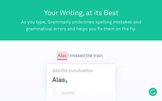 grammarly - بهترین افزونه های گوگل کروم برای وردپرس