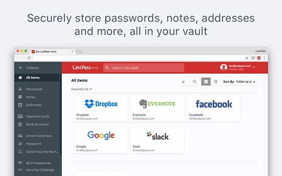lastpass - بهترین افزونه های گوگل کروم برای وردپرس