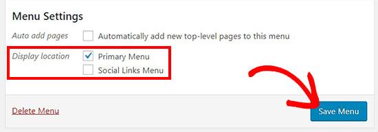 menudisplaylocation - آموزش اضافه کردن آیکون رسانه های اجتماعی به منوهای وردپرس با افزونه Menu Image