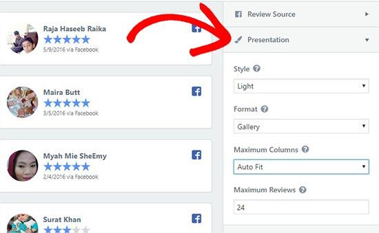 presentation - نحوه نمایش نظرات گوگل، فیس بوک و یلپ در وردپرس