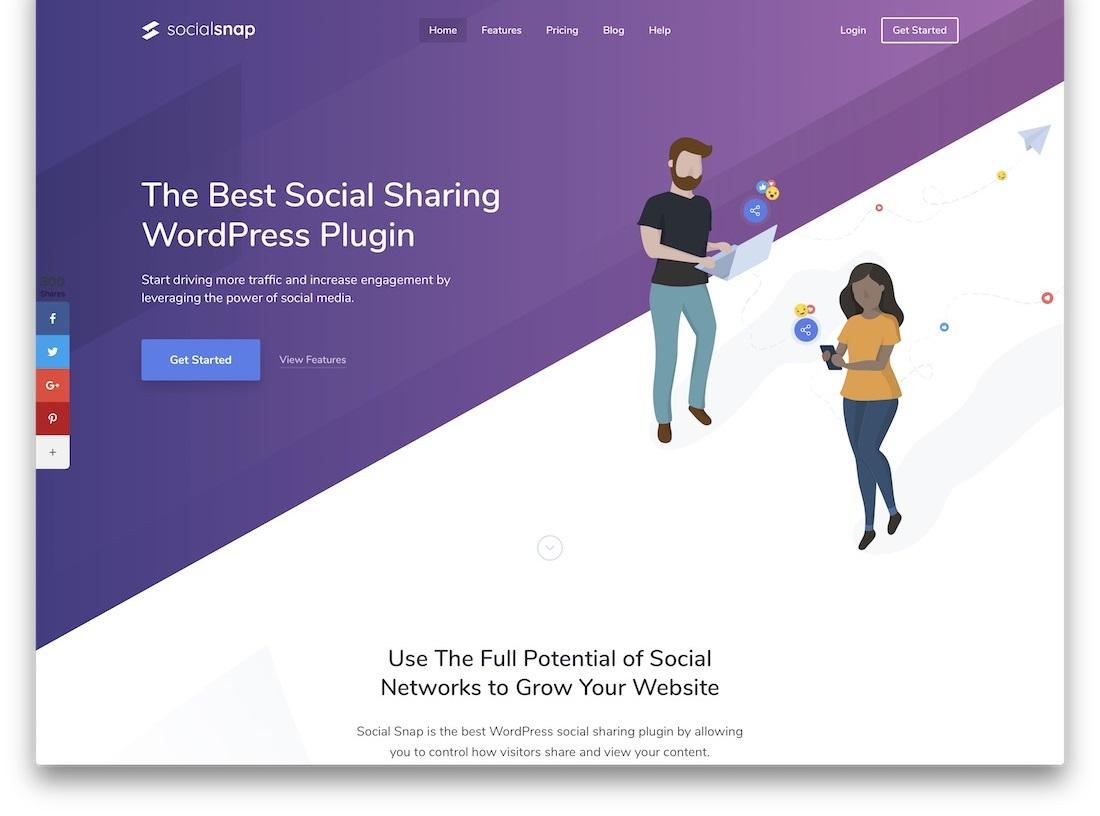social snap social sharing plugin - بهترین افزونه های اشتراک گذاری در شبکه های اجتماعی وردپرس