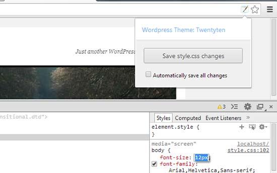 wpstyleeditor - بهترین افزونه های گوگل کروم برای وردپرس