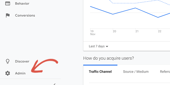 analytics admin - 15 نکته موثر آموزش کنسول جستجوی گوگل | گوگل وبمستر تولز برای افزایش رتبه سایت