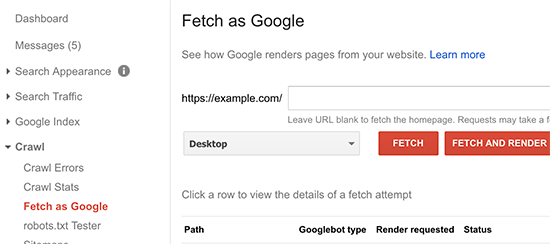fetchasgoogle - 15 نکته موثر آموزش کنسول جستجوی گوگل | گوگل وبمستر تولز برای افزایش رتبه سایت