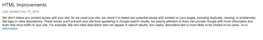 html improvements 897x139 - بهترین ابزار بررسی سئو سایت | کنسول جستجو گوگل و ابزار Google Keyword Planner