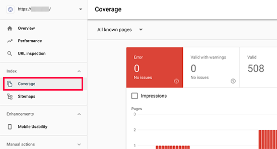 index coverage - 15 نکته موثر آموزش کنسول جستجوی گوگل | گوگل وبمستر تولز برای افزایش رتبه سایت