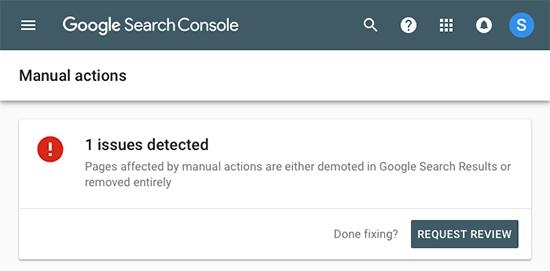 manualactions - 15 نکته موثر آموزش کنسول جستجوی گوگل | گوگل وبمستر تولز برای افزایش رتبه سایت