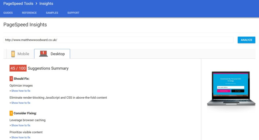 pagespeed desktop 897x485 - بهترین ابزار بررسی سئو سایت | کنسول جستجو گوگل و ابزار Google Keyword Planner