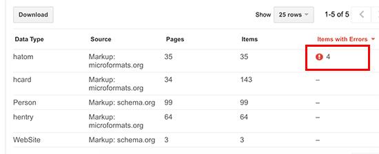 schemaerrors - 15 نکته موثر آموزش کنسول جستجوی گوگل | گوگل وبمستر تولز برای افزایش رتبه سایت