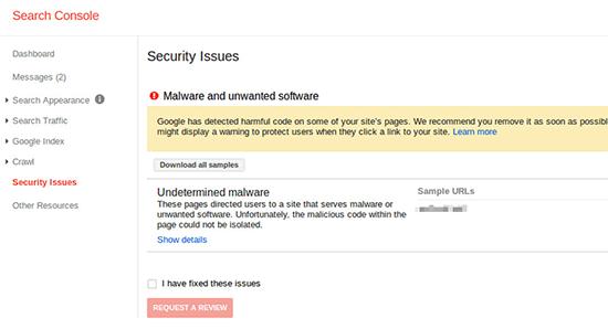 securityissues - 15 نکته موثر آموزش کنسول جستجوی گوگل | گوگل وبمستر تولز برای افزایش رتبه سایت