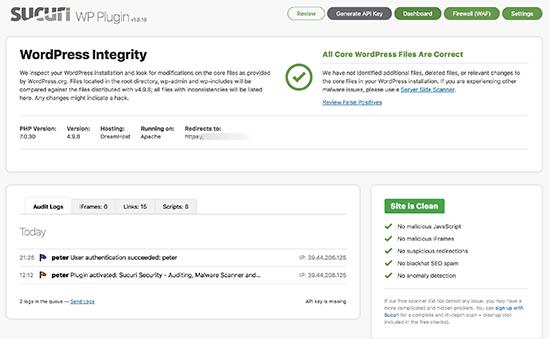 sucuri plugin - آموزش پاکسازی وردپرس | شناسایی کد های مخرب و بد افزار