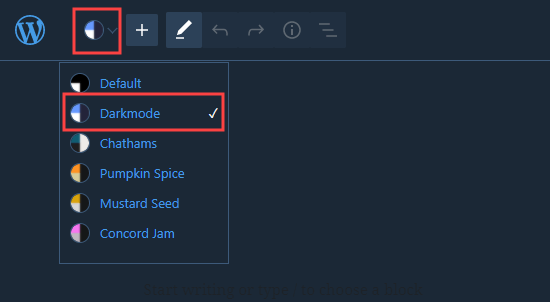 wordpress block editor dark mode - افزونه حالت شب وردپرس (Dark Mode) برای سایت