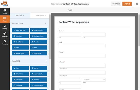 wpforms default job application template - ساخت فرم استخدام در وردپرس با افزونه WpForms + آموزش