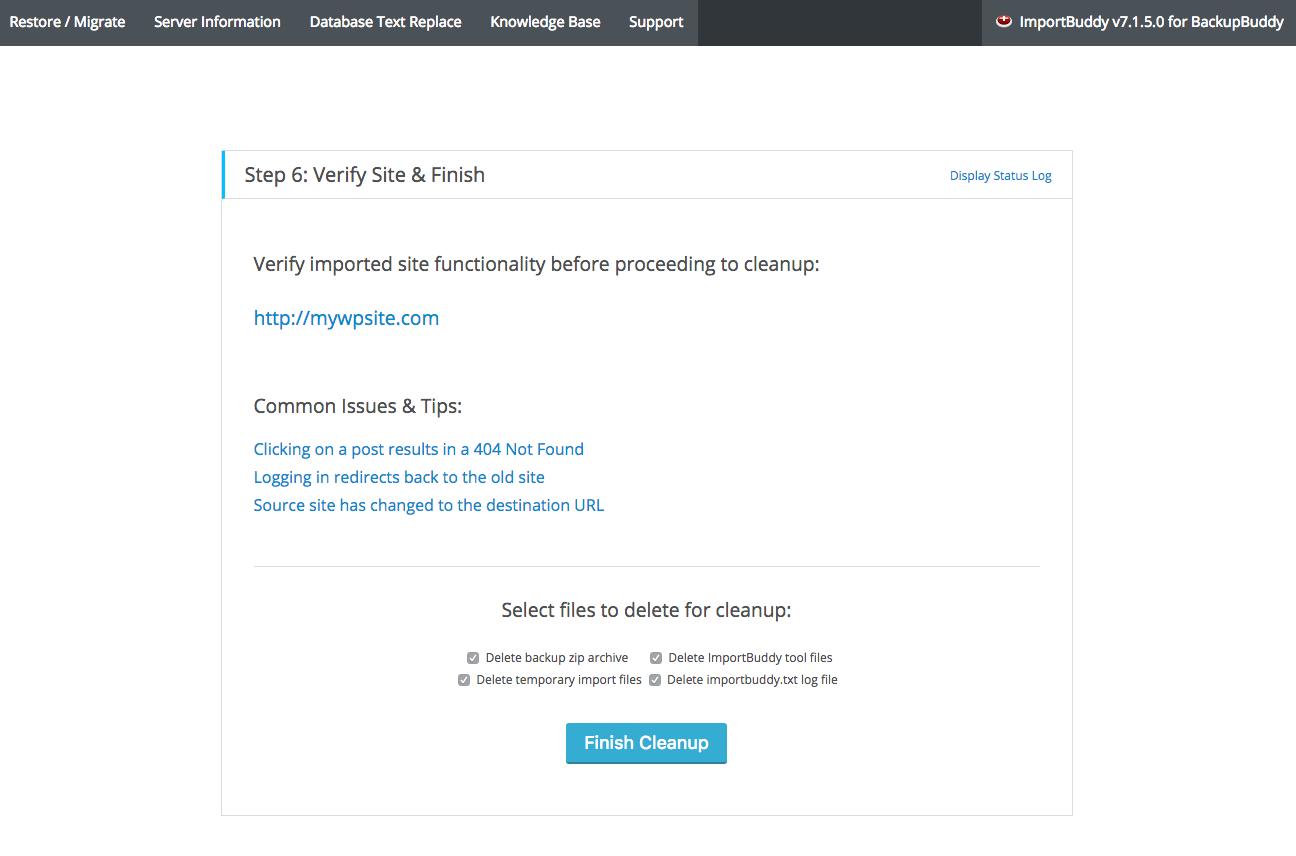 Screen Shot 2016 07 11 at 5.17.07 PM - آموزش انتقال وردپرس به دامنه جدید | تغییر دامنه سایت