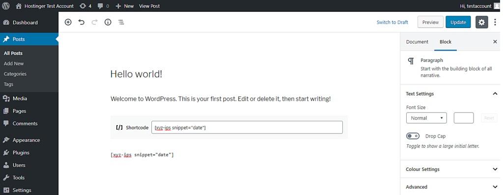 add code to poage or post gutenberg - نوشتن کد php در برگه وردپرس یا نوشته جدید - افزونه کد php وردپرس