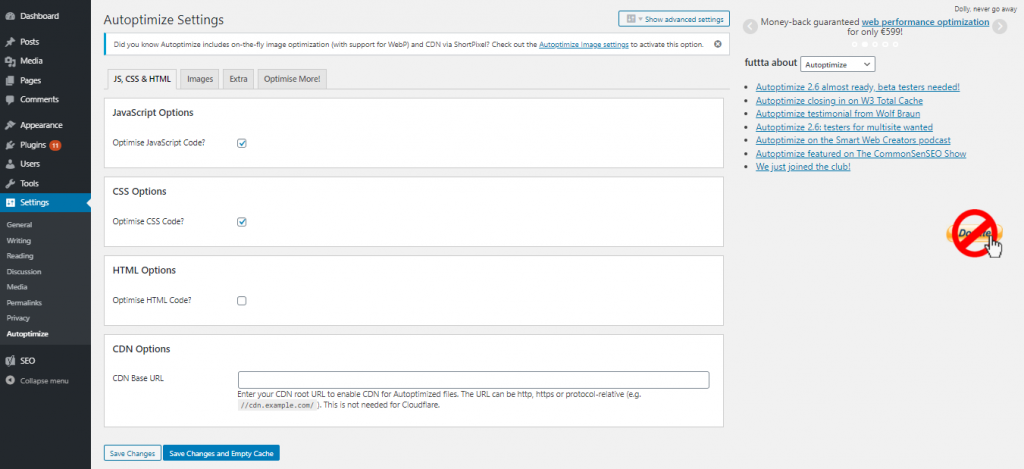 autoptimize optimise css and js 1 1024x469 1 - رفع خطای Render Blocking JavaScript CSS در Google PageSpeed