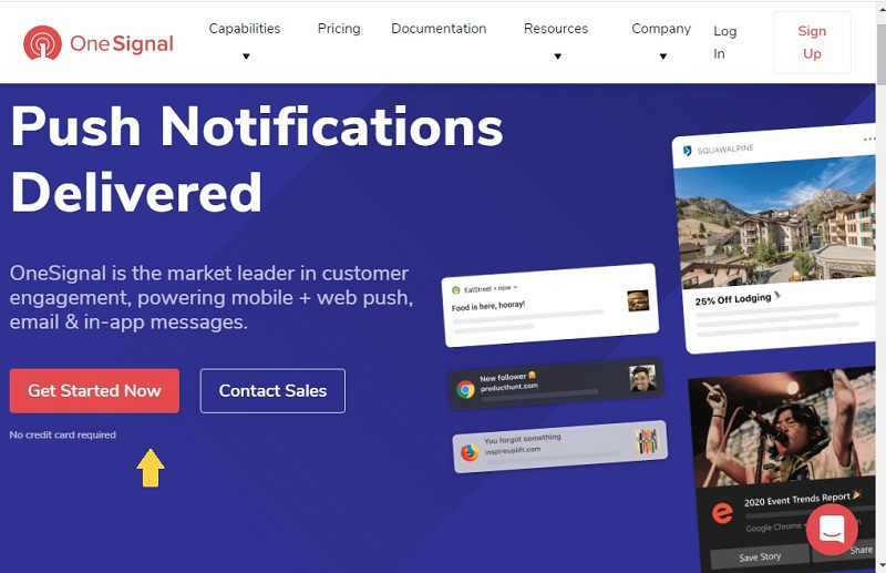 get started now - آموزش ساخت پوش نوتیفیکیشن در وردپرس Push Notification