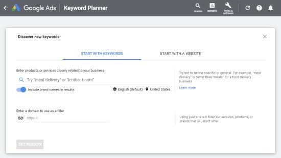 google ads keyword planner - نحوه انتخاب کلمات کلیدی مناسب + بررسی رتبه کلمه کلیدی در گوگل
