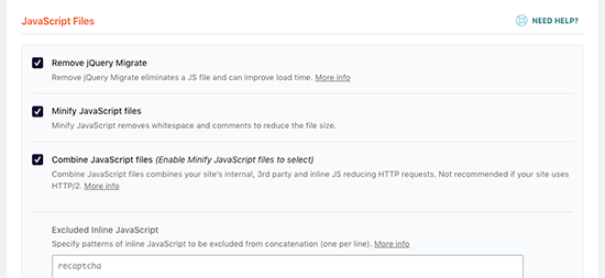 js optimization wprocket - رفع خطای Render Blocking JavaScript CSS در Google PageSpeed
