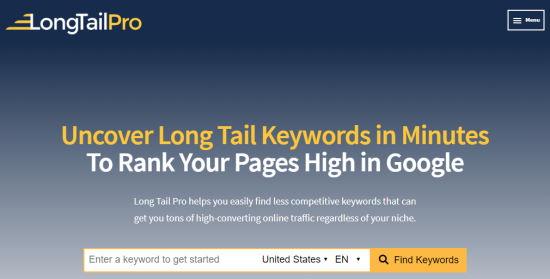longtailpro keywords - نحوه انتخاب کلمات کلیدی مناسب + بررسی رتبه کلمه کلیدی در گوگل