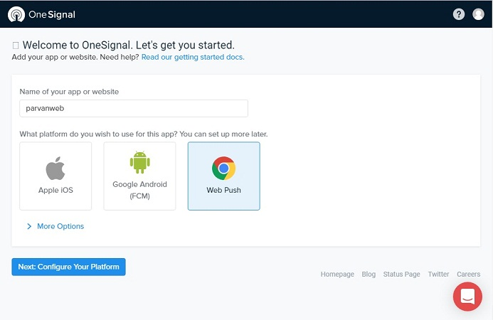 onesignal dashboard - آموزش ساخت پوش نوتیفیکیشن در وردپرس Push Notification
