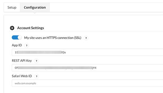 pasteapikeys - آموزش ساخت پوش نوتیفیکیشن در وردپرس Push Notification