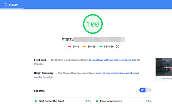perfect score - رفع خطای Render Blocking JavaScript CSS در Google PageSpeed
