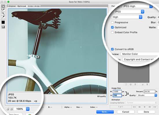 saveforweb photoshop - آموزش بهینه سازی تصاویر وردپرس و کاهش حجم عکس برای سایت
