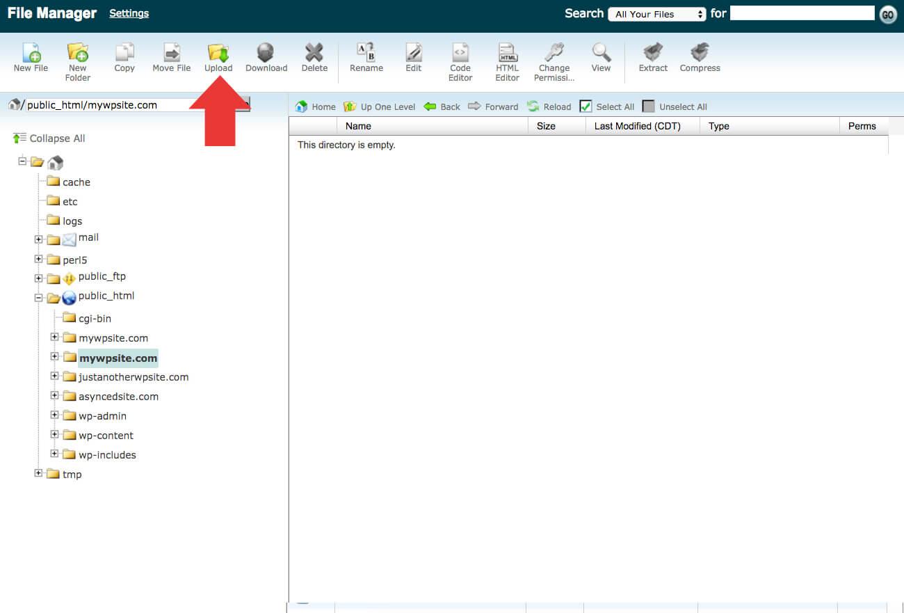 upload files to cpanel - آموزش انتقال وردپرس به دامنه جدید | تغییر دامنه سایت