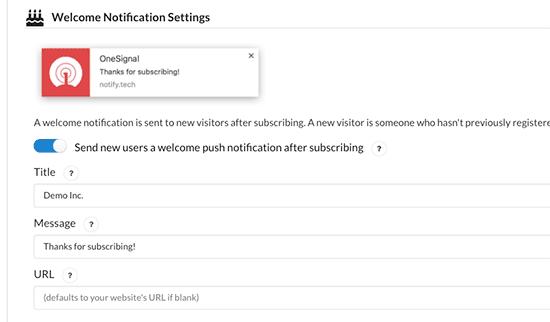welcomenotification - آموزش ساخت پوش نوتیفیکیشن در وردپرس Push Notification