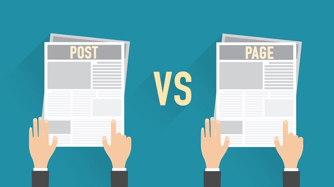 what is diffrent post vs page - تفاوت نوشته و برگه در وردپرس چیست؟ تفاوت پست Post و صفحه Page
