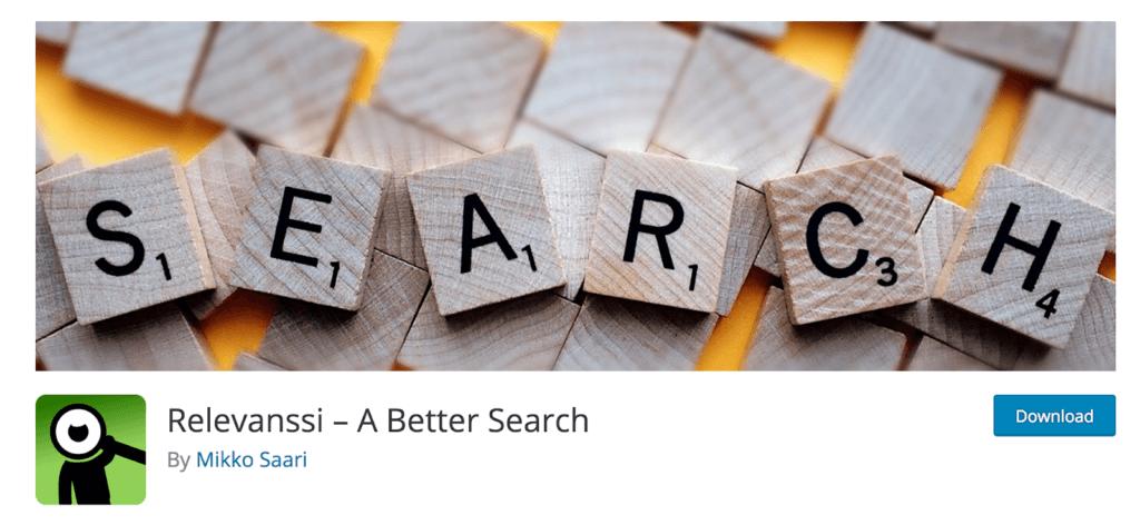 Relevanssi - بهترین افزونه های جستجوی وردپرس | افزونه جستجو پیشرفته ووکامرس
