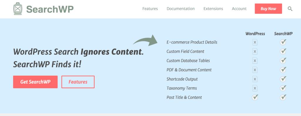 searchwp - بهترین افزونه های جستجوی وردپرس | افزونه جستجو پیشرفته ووکامرس