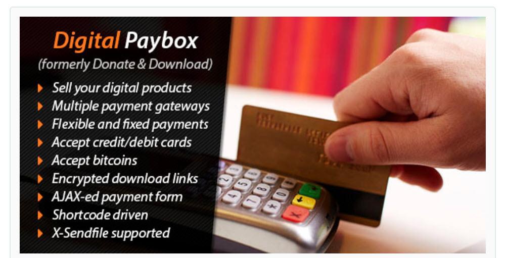 Digital Paybox - درگاه پرداخت با بیت کوین Bitcoin و ارزهای دیجیتال در وردپرس