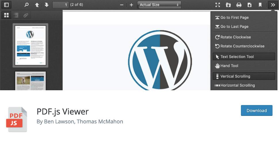 PDF.js Viewer - بهترین افزونه های PDF Viewer وردپرس | نمایش آنلاین فایل پی دی اف